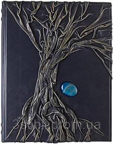 Родословная книга Арт Кажан кожаная с синим камнем (620-11-60)