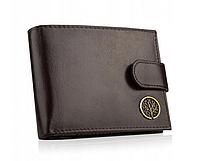 Кожаный мужской кошелёк Betlewski с защитой RFID BPM-BF-60 Коричневый