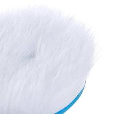 Круг из натуральной шерсти для эксцентриковых полировальных машин 80 мм, фото 2
