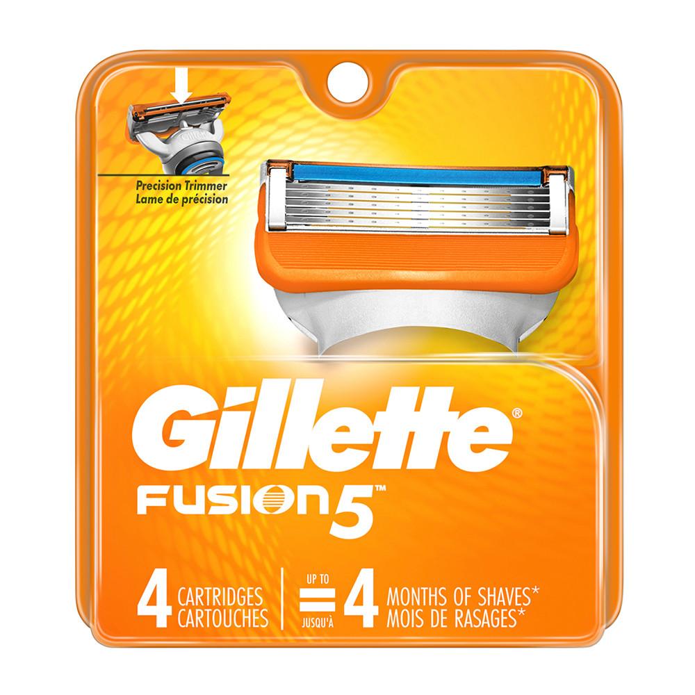Змінні картриджі Gillette Fusion 4 шт (047400156876)