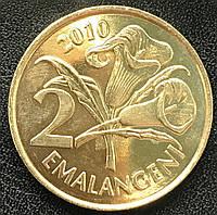 Монета Свазиленда 2 эмалангели 2010 г., фото 1