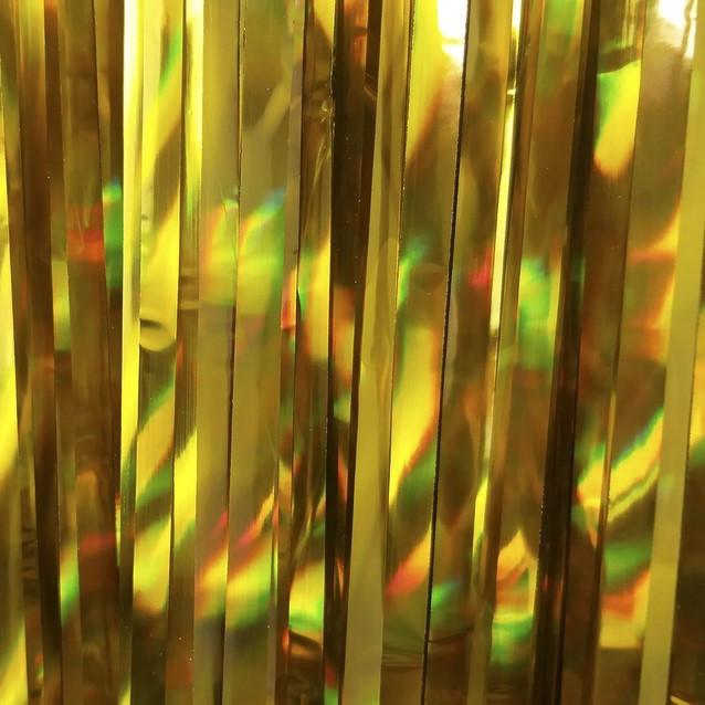 Шторка занавес из фольги для фото зон, ЗОЛОТО 1х3 метра