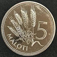 Монета Лесото 5 малоти 2010 г., фото 1