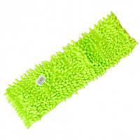 Запаска микрофибра для полотеров Лапша Feniks салатовая 40см