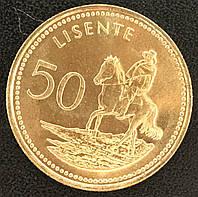 Монета Лесото 50 лисенте 2010 г., фото 1
