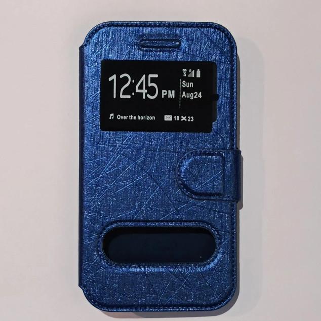 Универсальный чехол книжка для телефона 5,0-5,2 дюймов Синий