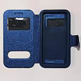 Универсальный чехол книжка для телефона 5,0-5,2 дюймов Синий, фото 2