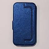 Универсальный чехол книжка для телефона 5,0-5,2 дюймов Синий, фото 3