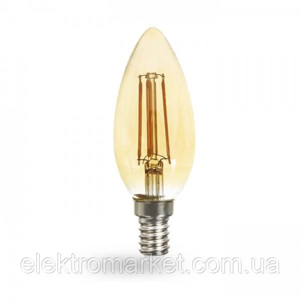 Світлодіодна лампа Feron LB-158 золото 6W E14 2200K