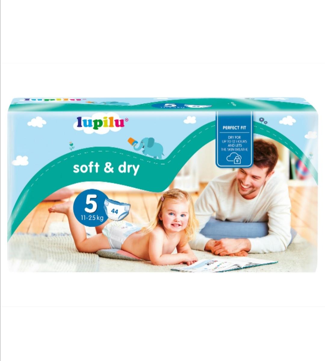 Підгузники Lupilu Soft & Dry розмір 5 (11-25 кг) 44 шт.