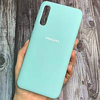 Чехол для Samsung Galaxy A50s Silicone Case с бархатом накладка силиконовый чехол на самсунг а50с бирюзовый