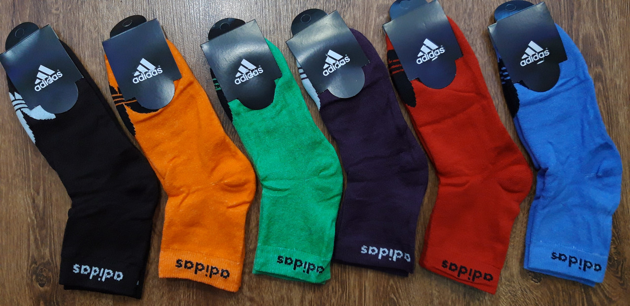 """Шкарпетки жіночі або підліткові махрові в стилі """"Adidas SS"""" 35-41"""