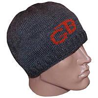 Вязаная мужская шапка(утепленный вариант) спортивного силуэта