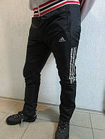 Зимние мужские штаны Адидас 18222-1 тёмно- синие  код 115 Б