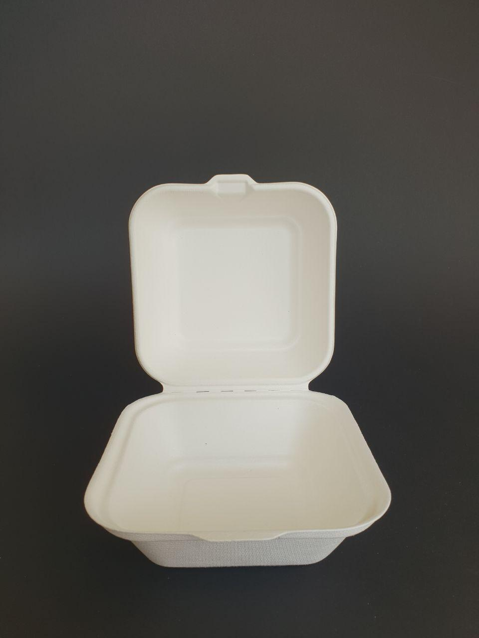 Упаковка из сахарного тростника 144.7*141*46.9/75.2 мм, 500 шт/ящ.
