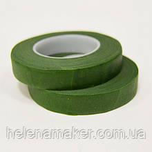 Тейп лента флористическая зеленая 12 мм