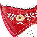 """Кожаные тапочки женские на овчине """"Tylbut"""" 39 Красный, фото 2"""