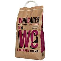 Впитывающий наполнитель для кошачьих лотков WC (WhoCares) Lavander 10 кг.