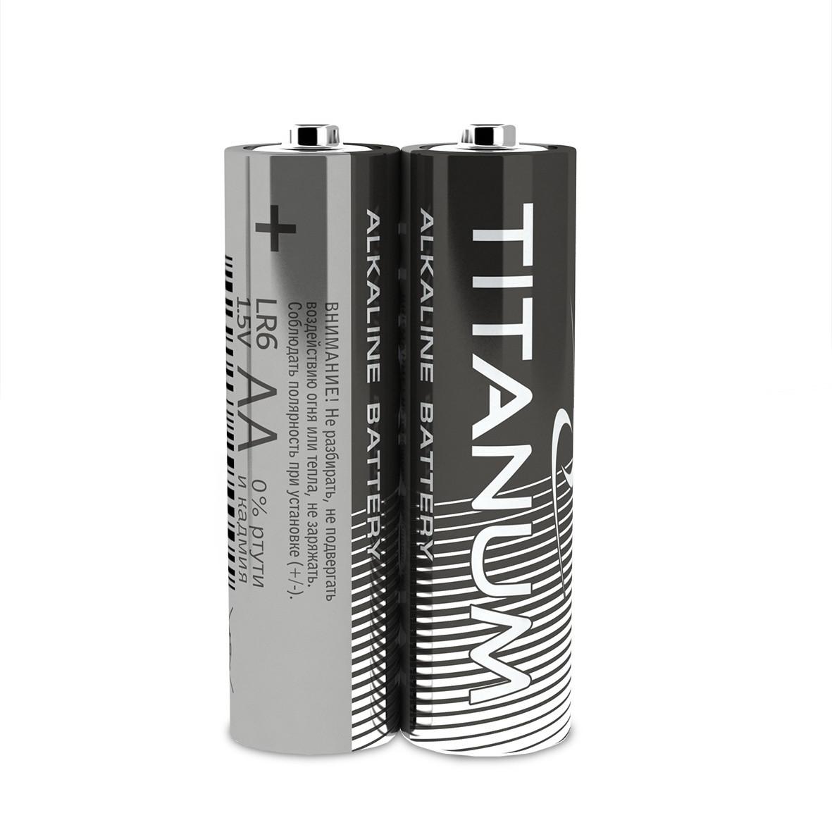 Батарейка щелочная Titanum LR6/AA 2шт SHRINK