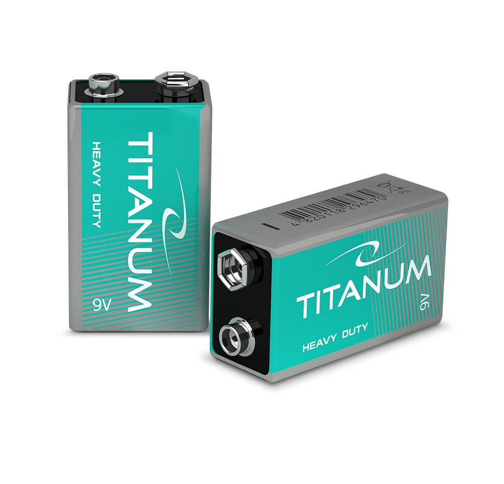 Батарейка солевая Titanum 6F22 SHRINK
