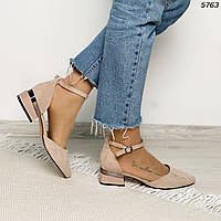 Туфли на устойчивом каблуке с ремешком 5763 (ВБ)