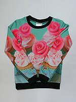 Модный свитшот/кофта для девочек 134р