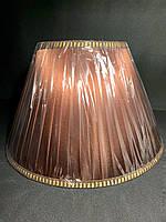 Тканевый большой абажур под широкий цоколь Е27 бордовый, фото 1