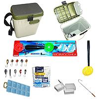 Набір для зимової рибалки Ящик з термо накладкою для сидіння + Удока +Комплектувальні, фото 1