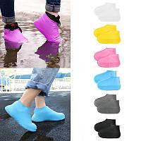 Силиконовые водонепроницаемые чехлы-бахилы для обуви от дождя и грязи, размер L