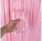 Шторка/занавес Нежно-розовая для фотозоны 1х2 м-