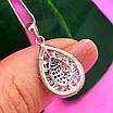 Серебряный женский кулон Бриллиантовая капелька - Подвеска Капля серебро 925, фото 6