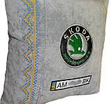 Подушка декоративна у авто з логотипом Skoda шкода, фото 4