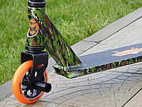 Самокат Трюковый Maraton STUNT 110 HIC WP + пеги, колеса алюминиевые 110 мм, для трюков