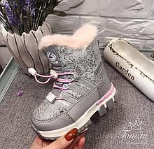 Зимние сапоги для девочки Розовый Tom.m р. 25 (16 см)