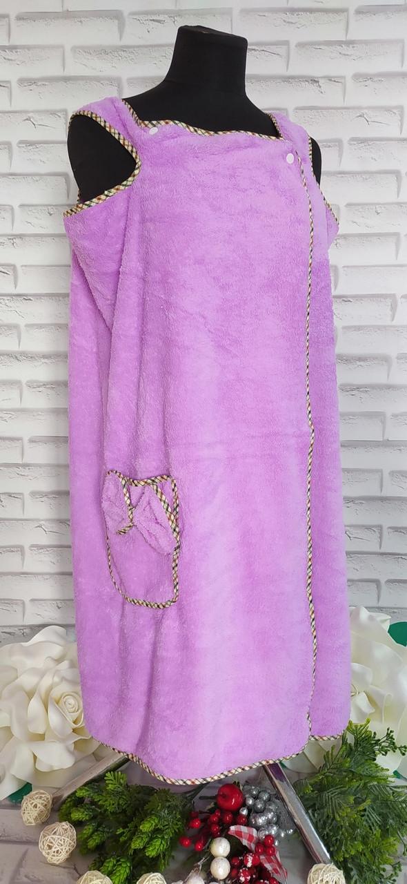 Полотенце платье (халат) 85*135 см для сауны микрофибра