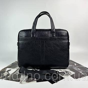 Мужской деловой портфель для документов чёрный