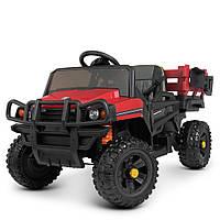Детский электромобиль Джип (2 мотора по 45W, MP3, USB) Грузовик Bambi M 4464EBLR-3 Красный