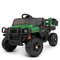 Детский электромобиль Джип (2 мотора по 45W, MP3, USB) Грузовик Bambi M 4464EBLR-5 Зеленый