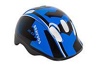 Шлем велосипедный детский, Bravvos HEL102, черно-синий (48-55 см)