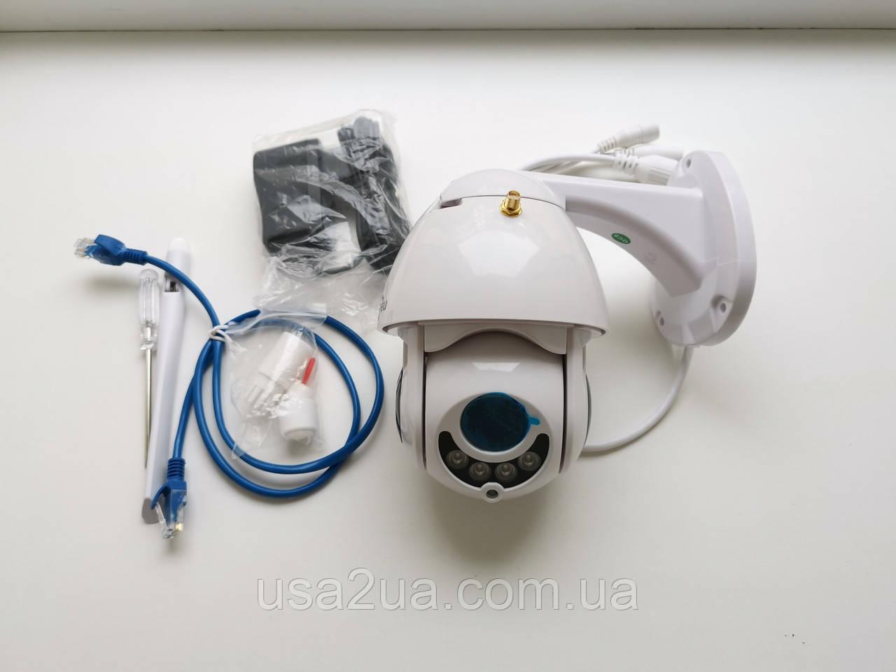 Беспроводная купольная Поворотная IP Камера Hiseeu Onvif 5X zoom 320° 1080 P PTZ IP 2mp Wi-Fi гарантия