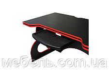 Компьютерный стол Barsky Homework Game Red HG-05 с полкой HG-05 /ПК-01 1400*700, фото 3