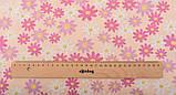 Набор хлопка для рукоделия с цветочным и геометрическим принтом в пудровых тонах - 8 отрезов 40*50 см, фото 10