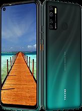 """Смартфон Tecno Spark 5 Pro 4/64Gb с большим экраном 6,6"""" с мощной батареей и тройной камерой зеленый"""