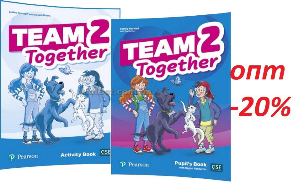Англійська мова / Team Together / Pupil's+Activity Book. Підручник+Зошит (комплект), 2 / Pearson