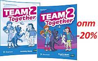 Английский язык / Team Together / Pupil's+Activity Book. Учебник+Тетрадь (комплект), 2 / Pearson