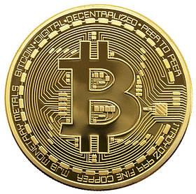 Сувенирная монета Trend-mix Биткоин Bitcoin Золотистый