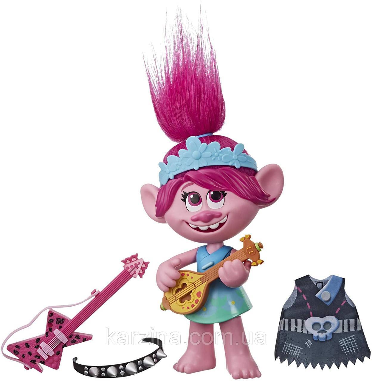 Інтерактивна лялечка співоча Трояндочка DreamWorks Trolls World Tour Pop-to-Rock