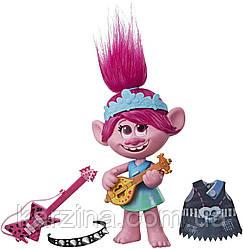 Интерактивная куколка поющая Розочка DreamWorks Trolls World Tour Pop-to-Rock
