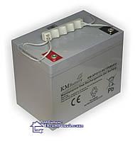 Гелева акумуляторна батарея KM-NPG12-80, фото 1
