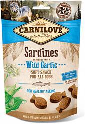 Лакомства для собак Carnilove Dog Semi Moist Sardines enriched with Wild garlic (сардина и дикий чеснок) 200 г